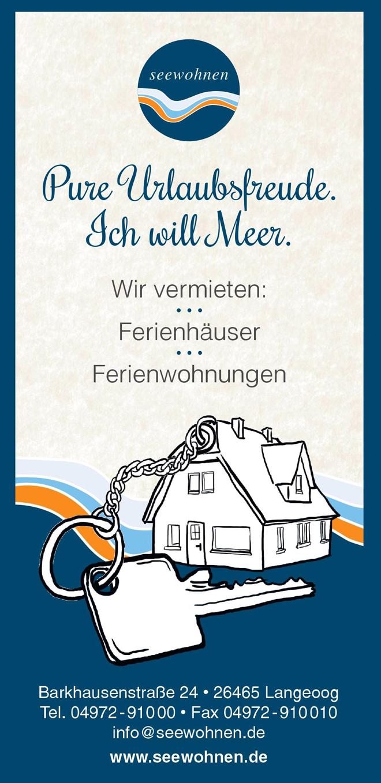 Seewohnen - Ferienhäuser und Ferienwohnungen auf Langeoog